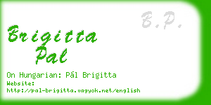 brigitta pal business card